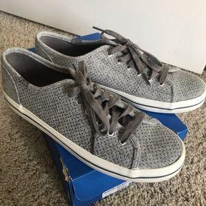 BRAND NEW Keds Kickstart Glitter Gray shoes